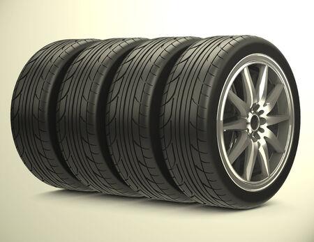 The car tires Фото со стока