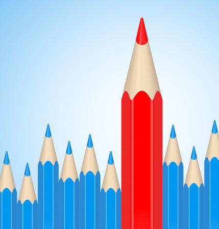 the red pencil Фото со стока