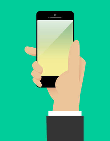 holding smart phone: Business hand holding smart phone