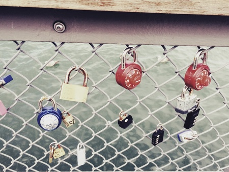 wish: Of locks and freedom Stock Photo