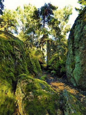 land of emerald cliffs Editorial