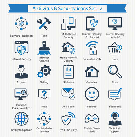 Anti virus  Security icons