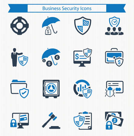 Business Security Icons 向量圖像