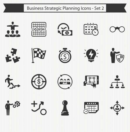 planning: Business Strategy Planning Icons