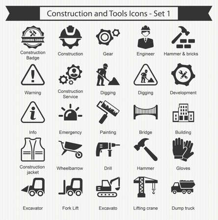 tractor warning: Construction and tools Icon