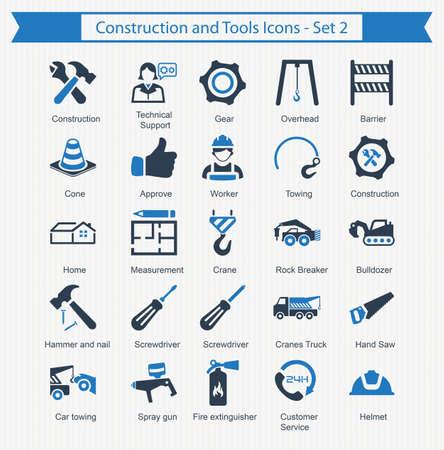 Iconos de construcción y herramientas