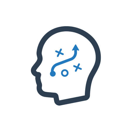 Strategic thinking icon.