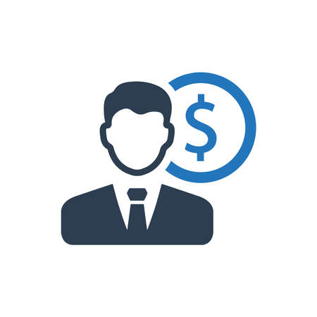 Financial Manager Icon Stock Vector - 89493454