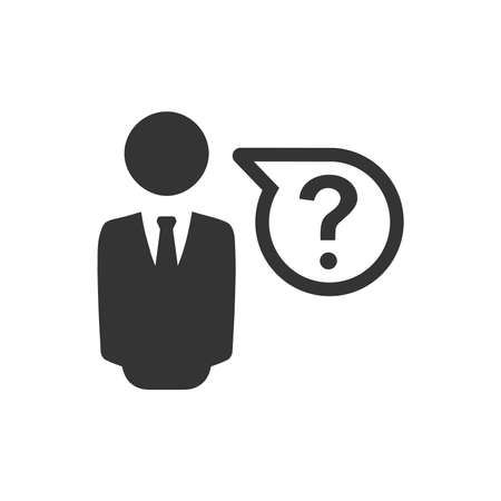 Business question icon.