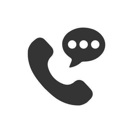 Beautiful, Meticulously Telephone Conversation Icon 向量圖像