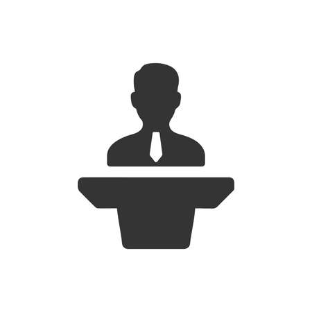 Beautiful, Meticulously Business Presentation Icon Иллюстрация