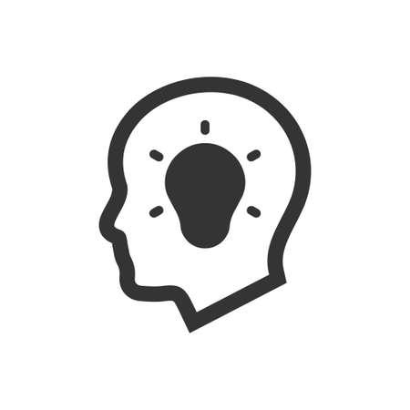 Mooi, zorgvuldig ontworpen icoon voor creatief denken