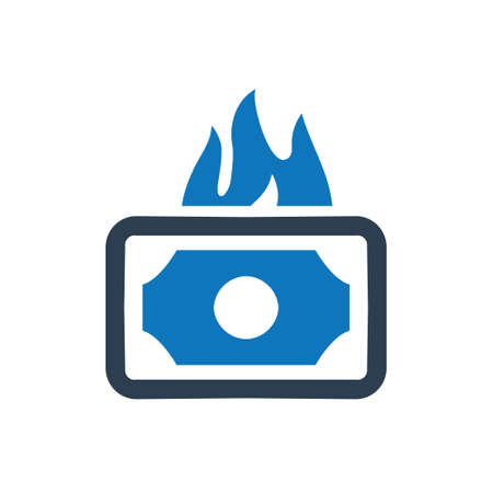 Beautiful, Meticulously Designed Money Burning Icon Illustration