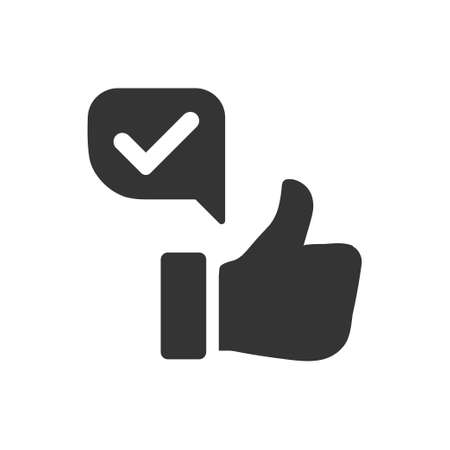 Beautiful, Meticulously Designed Positive Feedback Icon Ilustrace