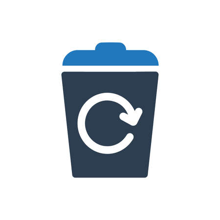 Recycle Bin Icon Ilustrace