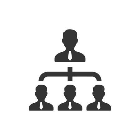 Symbol für die Unternehmenshierarchie
