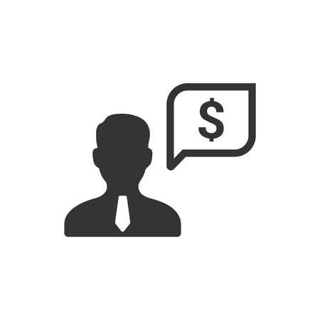 Business Support Icon Vektoros illusztráció