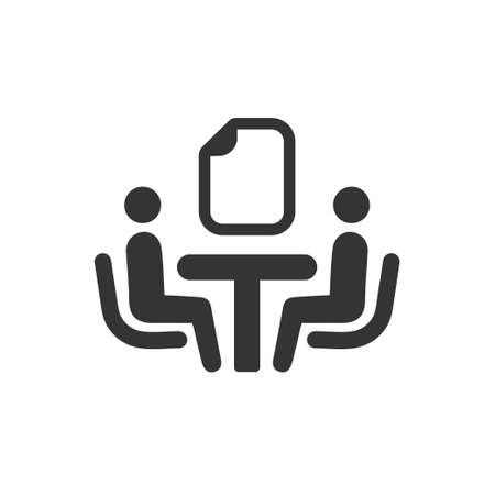Beautiful, Meticulously Designed  Business Contract Icon Reklamní fotografie - 104832869