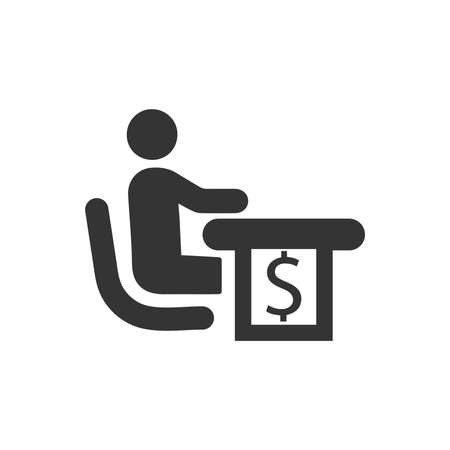 Financial Manager Icon Illustration