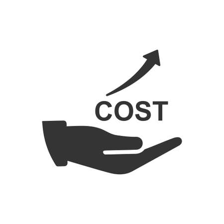 Beautiful, Meticulously Designed Rising Costs Icon