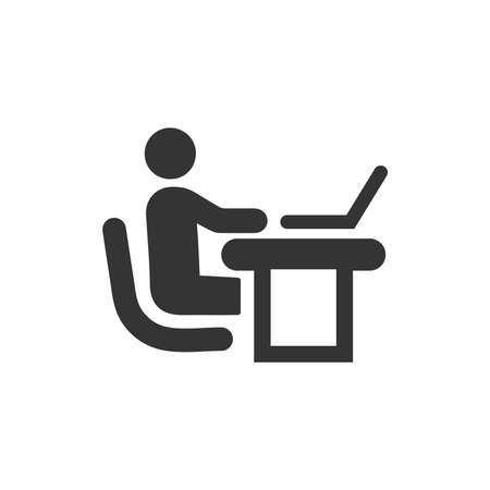Office Working Icon Ilustrace