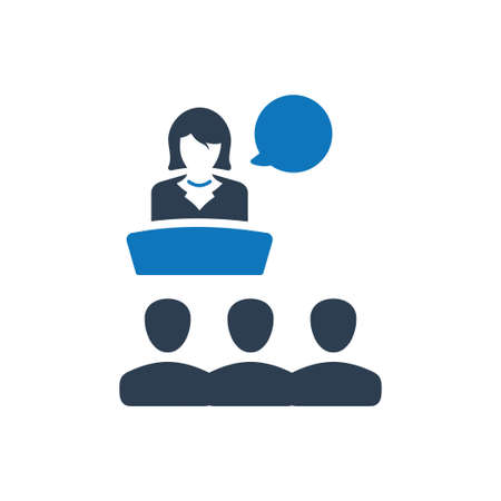 Beautiful, Meticulously Designed Business Presentation Icon Ilustracja