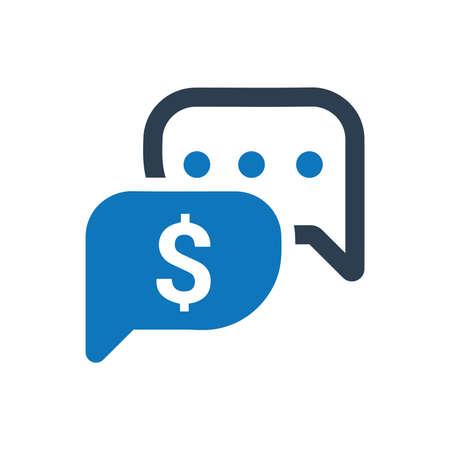 Business Conversation Icon Standard-Bild - 114952772