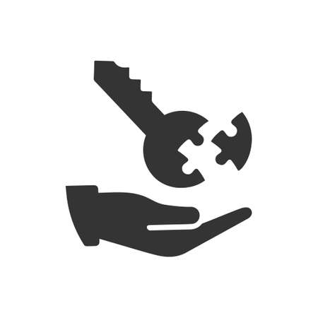 Beautiful, Meticulously Designed Business Key Icon 版權商用圖片 - 114952782