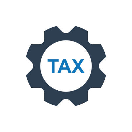 Beautiful, Meticulously Designed Tax Service Icon Vector Illustratie