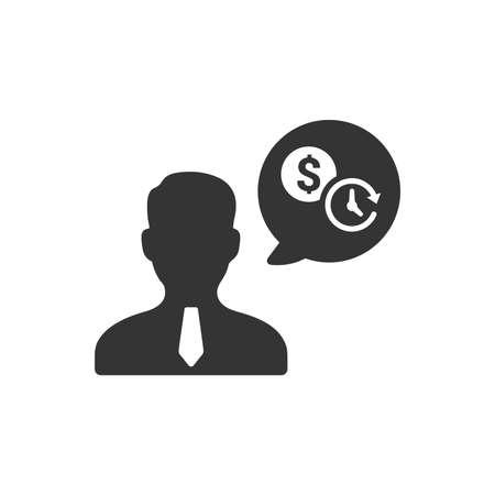 Business Advisor Icon Illustration