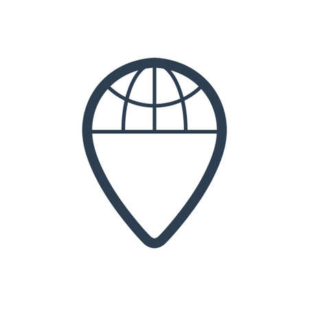 Beautiful, Meticulously Designed Global Location Icon