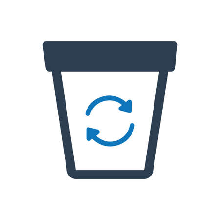 Beautiful, Meticulously Designed Recycle Bin Icon Иллюстрация