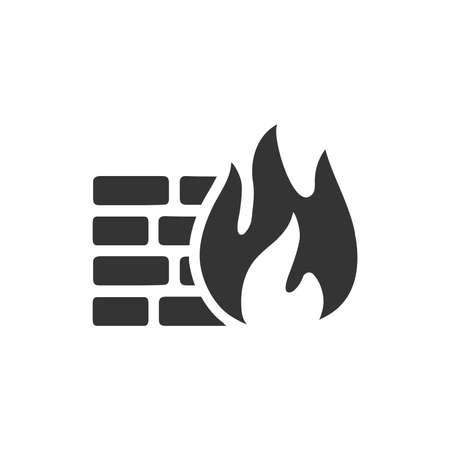 Firewall Icon Reklamní fotografie - 114944956