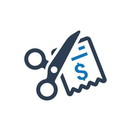 Cost Minimize Icon Ilustrace