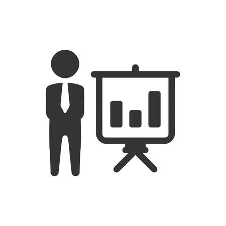 Business Graphical Presentation Icon 向量圖像