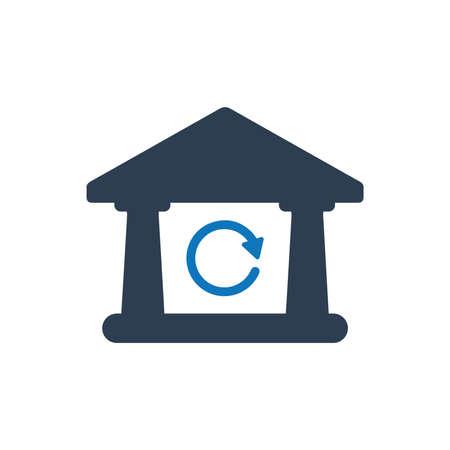 Inter Bank Transaction Icon Фото со стока - 114952851