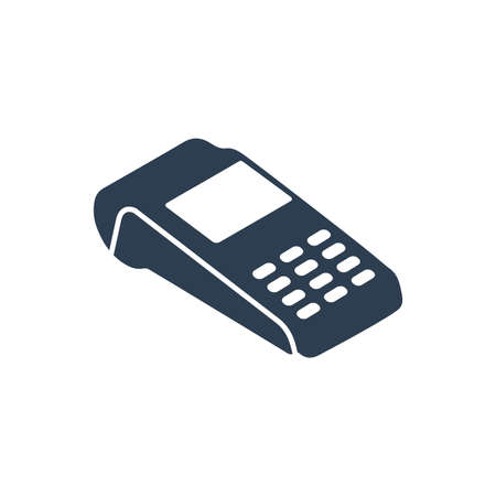 Payment Card Reader Icon Illustration