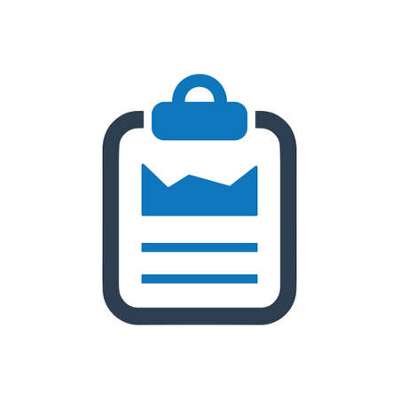 Beautiful, Meticulously Designed Statistics Report Icon Иллюстрация