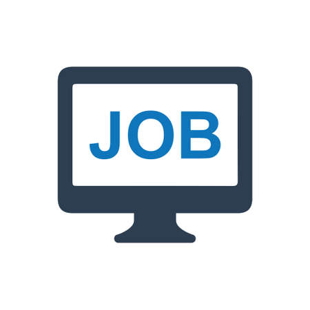 Beautiful, Meticulously Designed Online Job Information Icon Иллюстрация