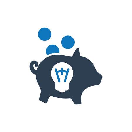 Creative Money Saving Icon