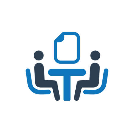 Beautiful, Meticulously Designed Business Contract Icon Reklamní fotografie - 104715216
