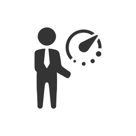Business Time Planning Icon Иллюстрация