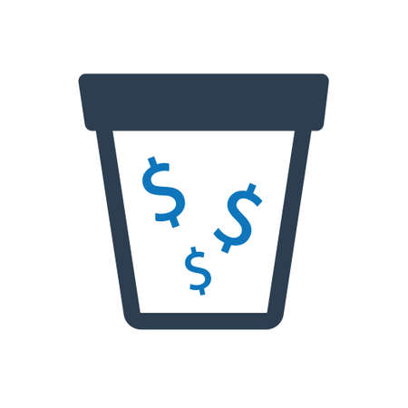 Beautiful, Meticulously Designed Money Drain Icon Иллюстрация