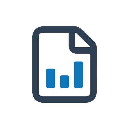 Business Report Icon Иллюстрация