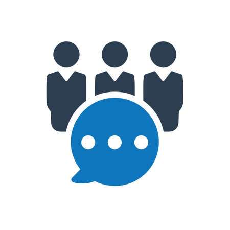 Beautiful, Meticulously Designed Business Group Discussion Icon Çizim