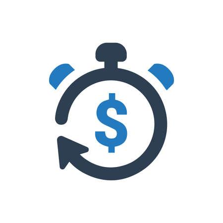 Schönes, sorgfältig gestaltetes Return on Investment-Symbol