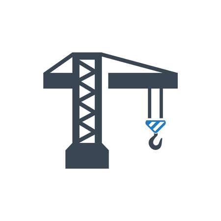 Tower Crane Icon Иллюстрация