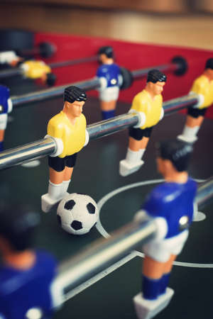 Close up of  a foosball game with soccer ball Stock Photo - 14177204