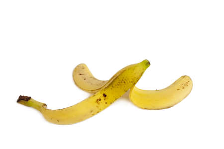 Banana peel isolated photo