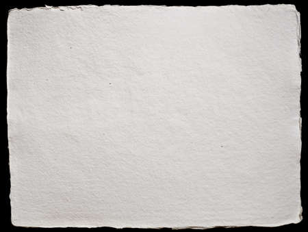 Handmade Paper Background with frayed edges Stock Photo